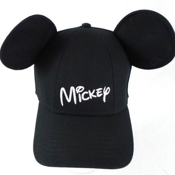 3199d5fa277a7 Disney Accessories - Disney Mickey Mouse Ears Baseball Hat Cap Black OS